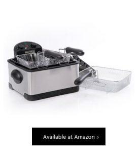 Secura 1700 Watt Stainless Steel Triple-Basket Electric Deep Fryer