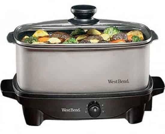 West Bend 84905 5-Quart Oblong Slow Cooker