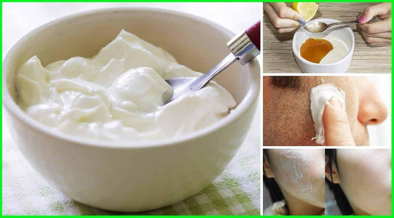 benefits of yogurt for skin and hairs