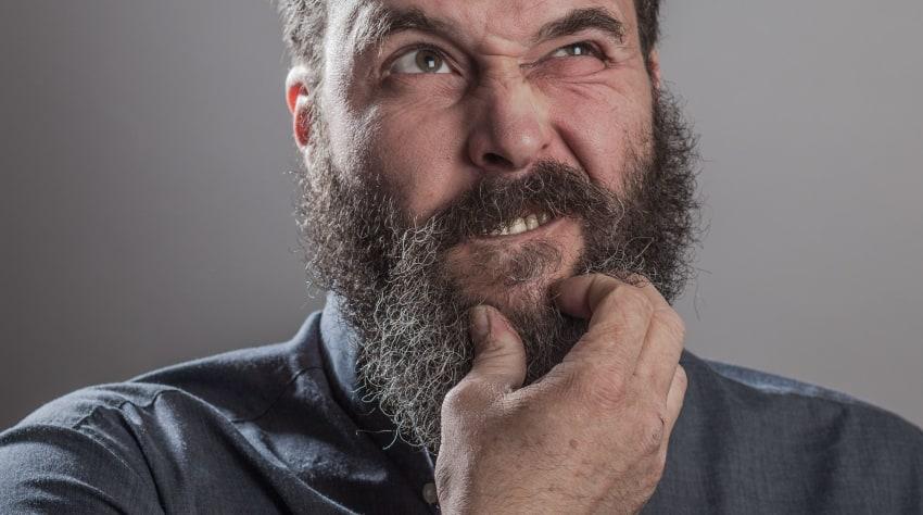 moisturize dry skin under beard or mustache